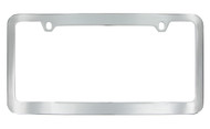 Chrome Plated Plain License Plate Frame with Medium Rim 2 Hole