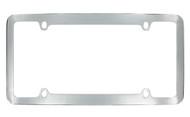 Chrome Plated Plain License Plate Frame 4 Hole (LF326-4H)