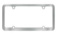 Chrome Plated Solid Brass Medium Rim License Plate Frame 4 Hole