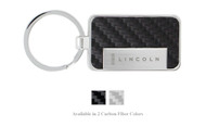 Lincoln Engraved Carbon Fiber Vinyl Key Chain