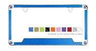 Carbon Fiber Vinyl Insert License Frames adorned with premium crystals