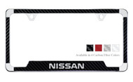Nissan License Plate Frame with Carbon Fiber Vinyl Insert