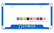 Ford F150 License Plate Frame with Carbon Fiber Vinyl Insert