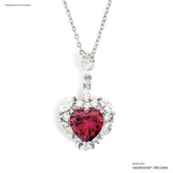 Red Sweet Heart Pendant Made with Swarovski Zirconia