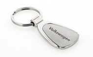 Volkswagen Wordmark Stainless Pear Shape Key Chain