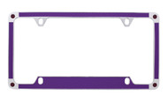Purple Carbon Fiber Vinyl Inlay License Plate Frame Embellished With Swarovski® Crystals