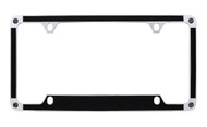 Satin Metallic Black Textured Vinyl Inlay License Plate Frame Embellished With Swarovski® Crystals