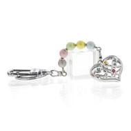 Pearl Heart Key Chain (KC001)