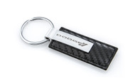 Dodge Stamped Simulated Carbon Fiber Leather Key Chain (DOKRL-CF)