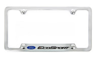 Ford EcoSport metal license plate frame. Quality craftsmanship and best on the market. Durable for harsh weather. Standard US frame size. Official licensed product.