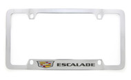 Cadillac ESCALADE metal license plate frame. Quality craftsmanship and best on the market. Durable for harsh weather. Standard US frame size. Official licensed product.