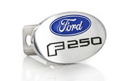 Ford F 250 Metal Trailer Hitch Cover Plug (2 inch Post) with Ford Logo