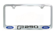 Ford F 250 Chrome Plated Metal License Plate Frame Holder