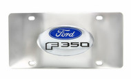Ford F 350 Chrome Decorative Vanity License Plate with Ford Logo