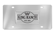 Ford King Ranch Est.1853 Chrome Decorative Vanity License Plate ( Square)