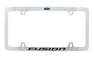 Ford Fusion with Logo Thin Rim Chrome Plated Metal License Plate Frame Holder