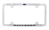 Ford Explorer with Logo Thin Rim Chrome Plated Metal License Plate Frame Holder