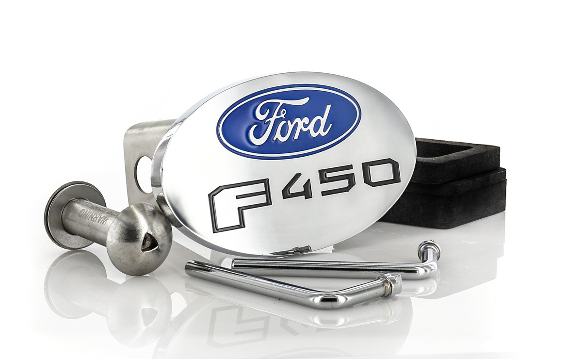 Ford F 450 Metal Trailer Hitch Cover Plug 2 inch Post