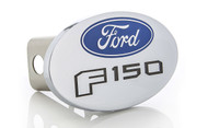 Ford F 150 Metal Trailer Hitch Cover Plug (2 inch Post) with Ford Logo