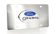 Ford F 450 Chrome Decorative Vanity License Plate with Ford Logo