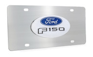 Ford F 150 Chrome Decorative Vanity License Plate with Ford Logo