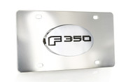 Ford F 350 Chrome Decorative Vanity License Plate