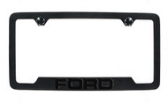 Ford Black Plated License Frame with Logo engraved