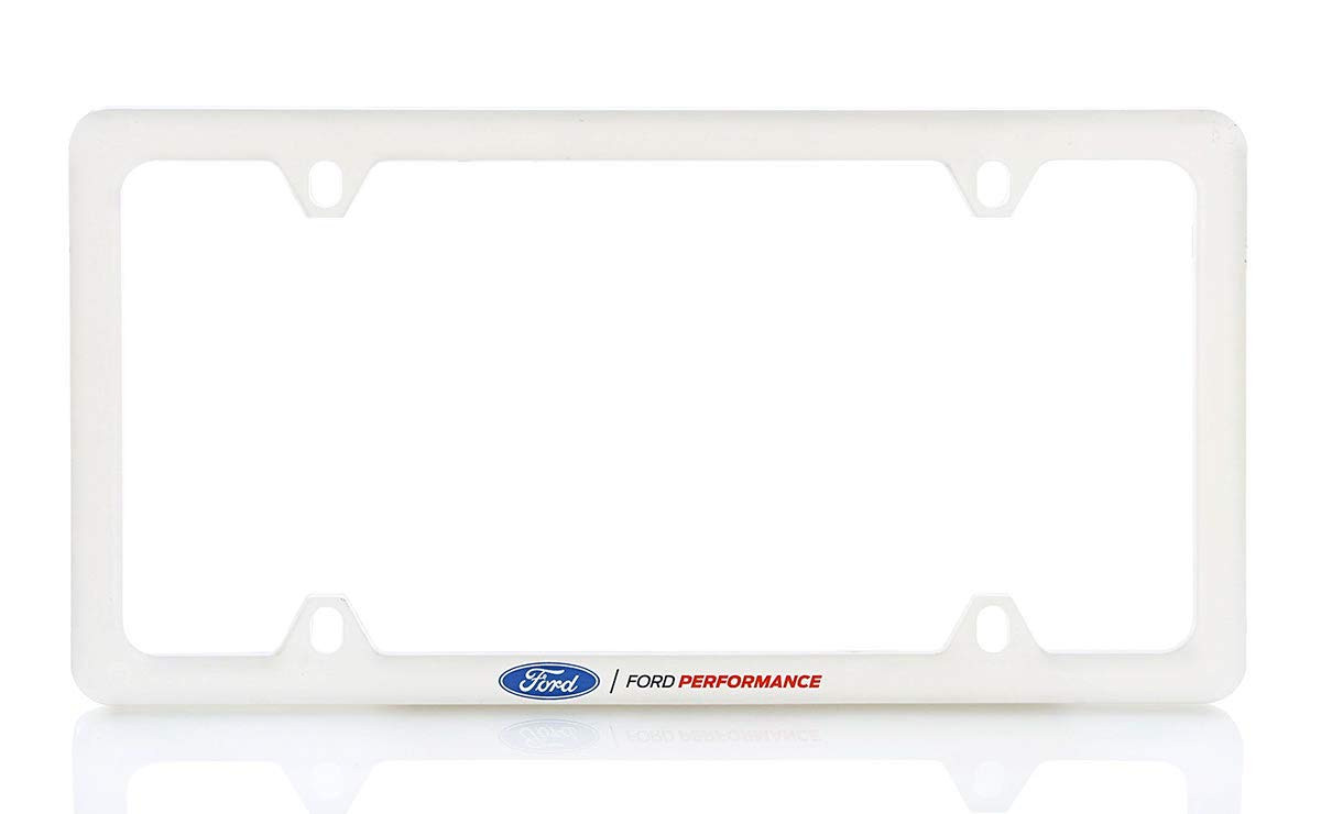 Ford Performance UV Printed White Plastic Thin Rim License