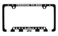 Harley-Davidson® 'FREEDOM TO RIDE' UV Printed Black and White License Frame