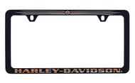 Harley-Davidson Black and Orange Thin Rim License Frame