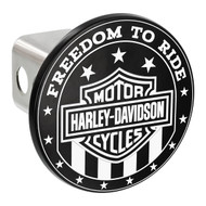 Harley Davidson ' FREEDOM TO RIDE' Black and White Hitch Cover