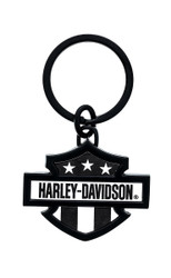 Harley Davidson Black and White Key Chain