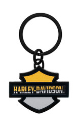 Harley Davidson Orange and Black Key Chain