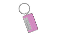 Nissan Pink Simulated Carbon Fiber Key Chain