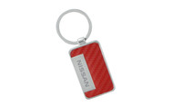 Nissan Red Simulated Carbon Fiber Key Chain