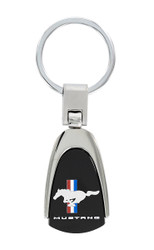 Ford Mustang UV Printed Wordmark Pear Shape Keychain