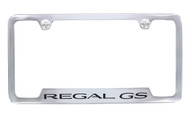 Buick  Regal GS Chrome Plated Metal Bottom Engraved License Plate Frame
