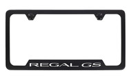 Buick Regal GS Black Coated Metal Bottom Engraved License Plate Frame