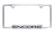 Buick Encore Chrome License Plate Frame _ notched bottom Frame