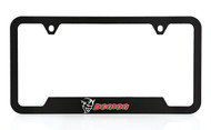 Dodge SRT Demon UV Printed Black Plastic License Frame