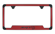Dodge SRT Hell Cat Red Vinyl Inlay License Frame
