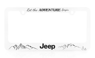 Jeep Adventure UV Printed White License Frame_ Available in Two Frame Style