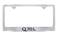 Infiniti Q70L Chrome Plated License Frame_ Wide Bottom Frame Design