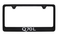 Infiniti Q70L Black Powder Coated License Frame_ Wide Bottom Frame Design