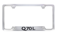 Infiniti Q70L Chrome Plated License Frame_ Notched Bottom Frame Design