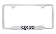 Infiniti QX30 Chrome Plated License Frame_ Notched Bottom Frame Design