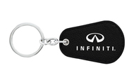 Infiniti UV Printed Leather Key Chain_ Pear Shape Black Leather