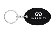 Infiniti UV Printed Leather Key Chain_ Oval Shape Black Leather