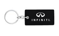Infiniti UV Printed Leather Key Chain_ Rectangular Shape Black Leather
