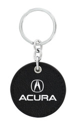 Acura UV Printed Black Leather Key Chains_ Available in 4 Shapes